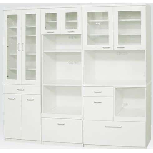 食器棚 ペレットβ 85OP開戸(ホワイト):安心の国産品質