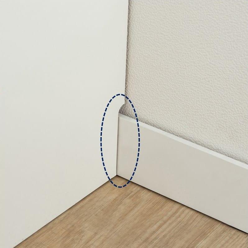 ダイニングボード ハイル HT−100FDST エルムグレー:幅木カットで壁付けしやすい♪