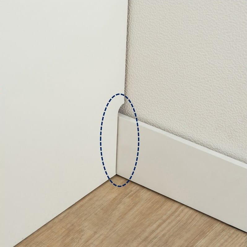 ダイニングボード ハイル HT−140FDST エルムグレー:幅木カットで壁付けしやすい♪