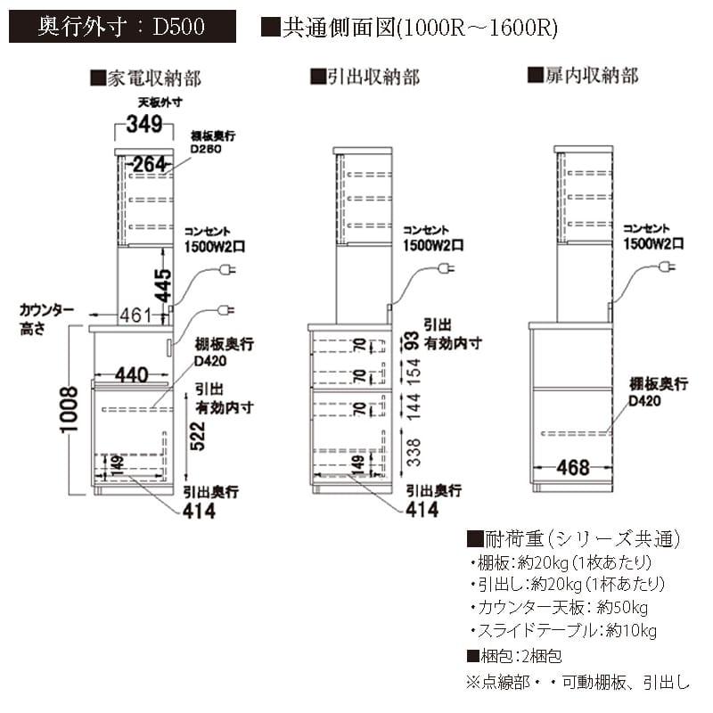 パモウナ ダイニングボード  HAL−S1600R A