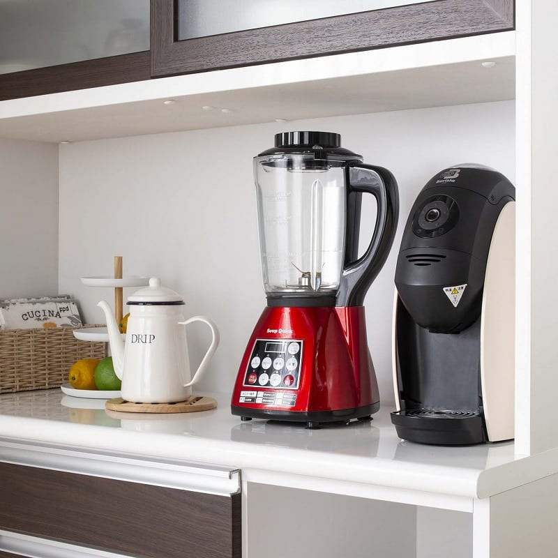 食器棚 ブルート ロータイプ120(WH柾目):ロータイプは高さに余裕たっぷりの家電収納