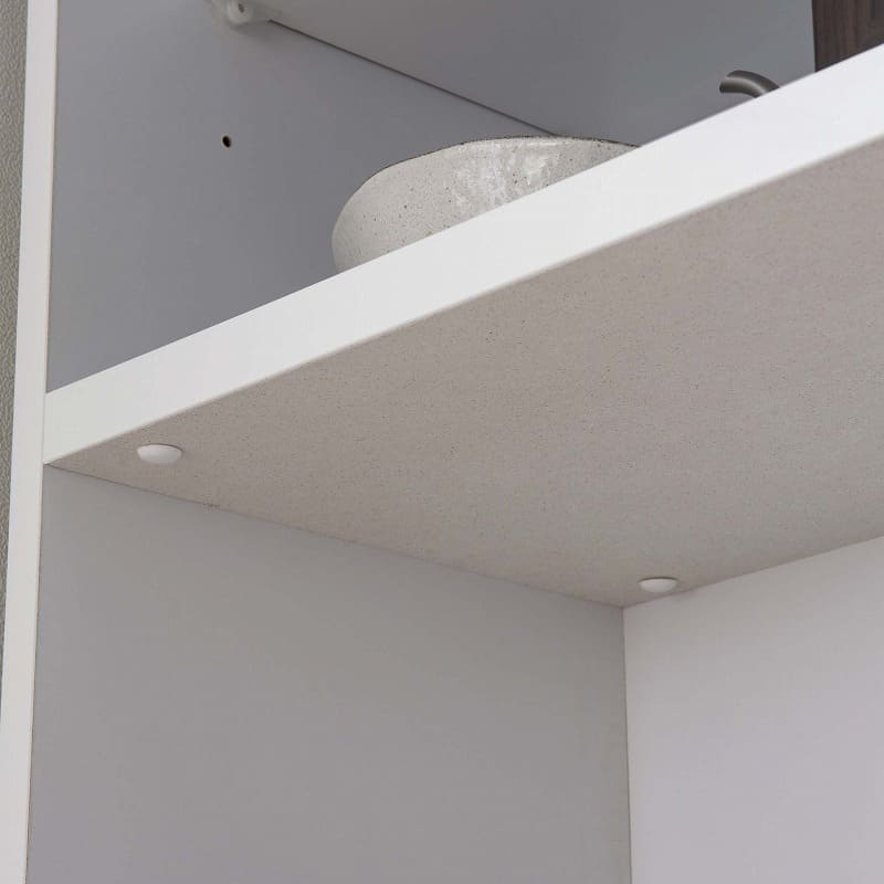 食器棚 ブルート ハイタイプ120(OBR):家電収納部にはモイスを標準装備