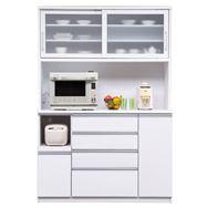 食器棚 ブルート ハイタイプ140(WH柾目)