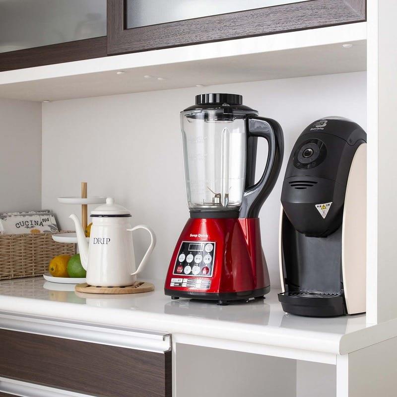 食器棚 ブルート ハイタイプ140(WH柾目):ロータイプは高さに余裕たっぷりの家電収納