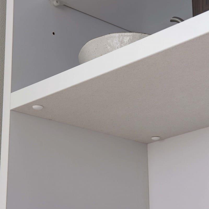 ハイカウンター ブルート ハイタイプ 120右指定 (WH柾目):家電収納部にはモイスを標準装備