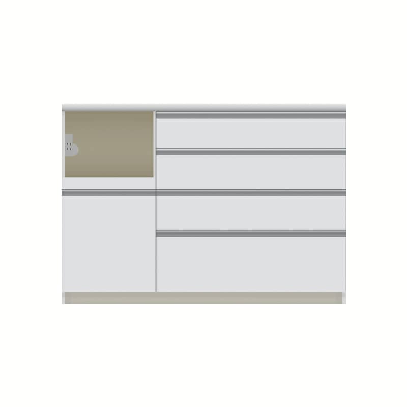 パモウナ カウンター  VZL−1200R下台 W