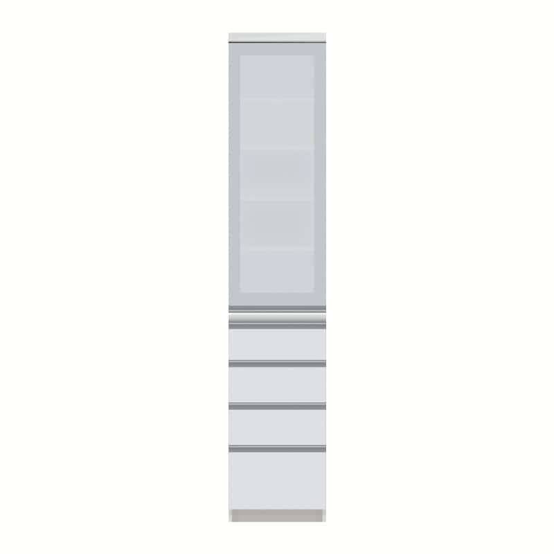 パモウナ ダイニングボード  VZ−400KR W (扉右開き):◆多くの人に支持される安心のブランド『パモウナ』
