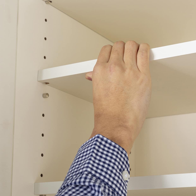 :棚板高さを3cm間隔で変えられる