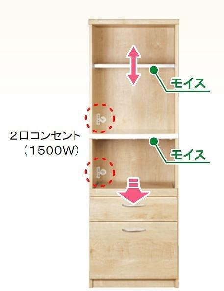 ダイニングボード プティ�U60R(N):既製品でお好みのカスタマイズ
