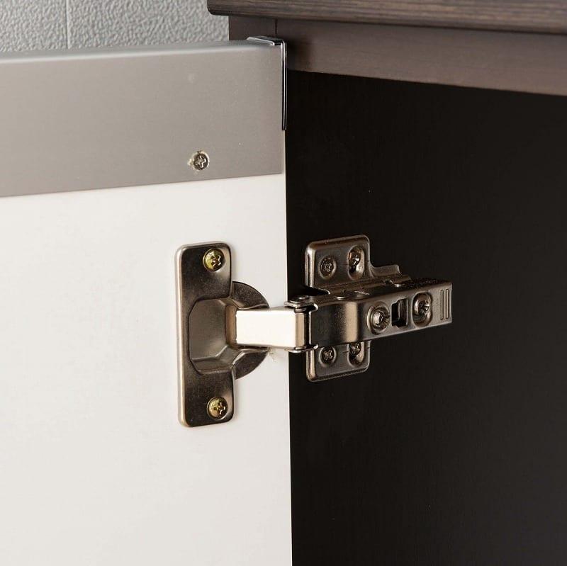 食器棚 ライズ 90大引き戸 WH:ダンパー機能で安心