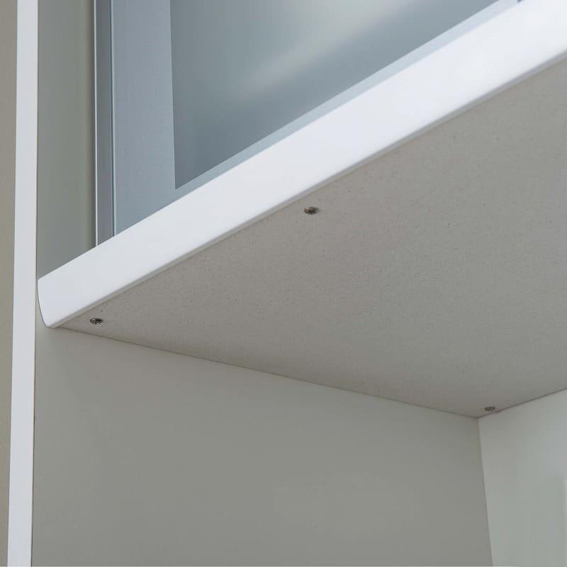 食器棚 ライズ 90大引き戸 WH:家電収納部にはモイスを標準装備