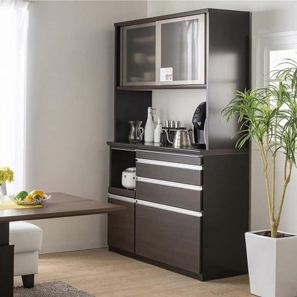 食器棚 ライズ 90大引き戸 WH:信頼の国産家具