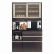 食器棚 ライズ 120レンジ DBR