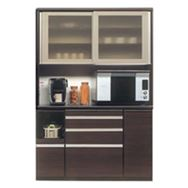 食器棚 ライズ 140レンジ DBR