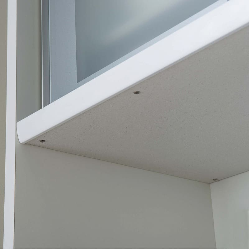 食器棚 ライズ 160レンジ WH:家電収納部にはモイスを標準装備