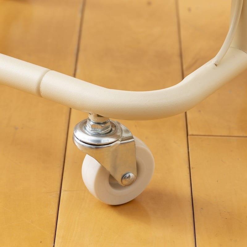 キッチンワゴン バスケットトローリースリム LSBT−3(WH) ホワイト:インテリア性もバッチリ