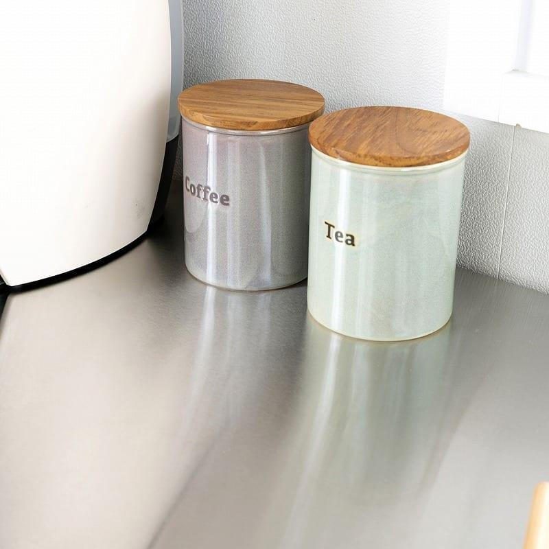 食器棚 紗々 60-OP(NA):ステンレス天板のカウンター