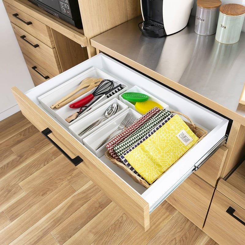 食器棚 紗々 60-OP(WN):引き出しやすく、物が取り出しやすい★