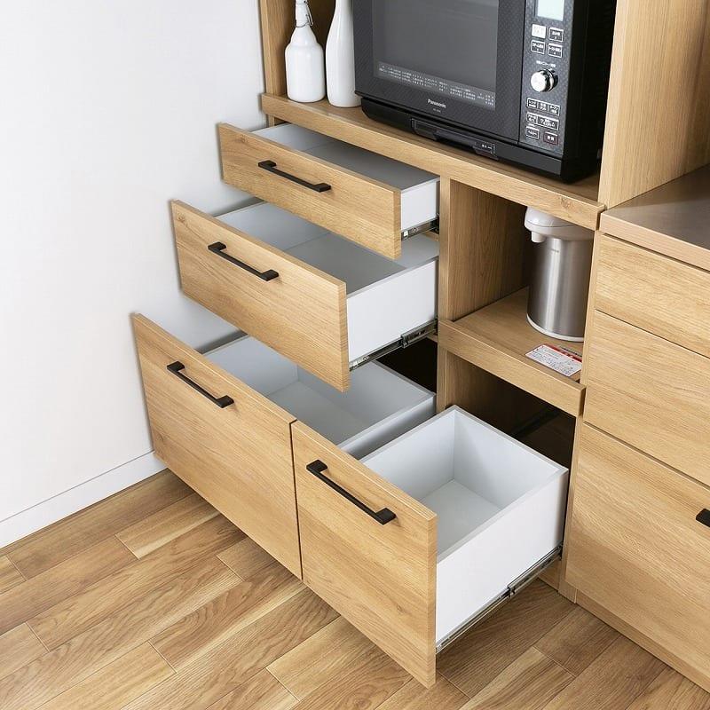 食器棚 紗々 60-OP(WN):収納スペースが充実