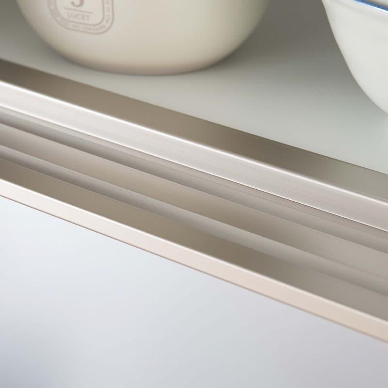 ダイニングボード シードル S100Hオープン WHDCホワイト:高い耐久性を誇るアルミレール