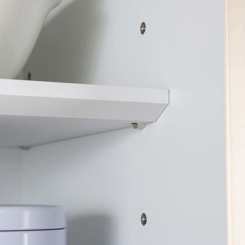 ダイニングボード シードル S100Lオープン WHDCホワイト:ねじ込み式だから棚板調節が簡単