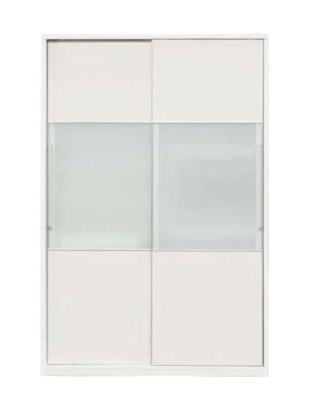 食器棚 マックス140(ゼブラホワイト):◆奥行61cmの超大型収納力!