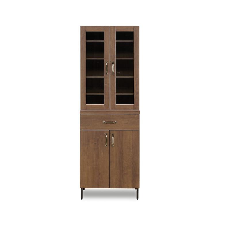 ダイニングボード C/Wウォールライフ 60DB WN:温かみある木調デザイン食器棚