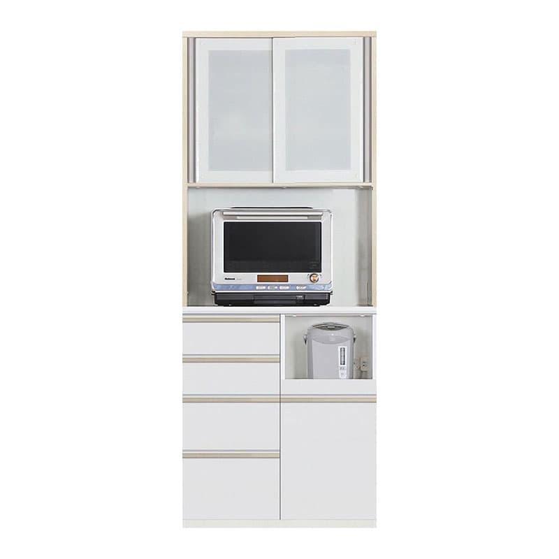 食器棚 Nサイゼスト 80 (ホワイト):欲しいサイズがきっと見つかる 小物類はイメージです。
