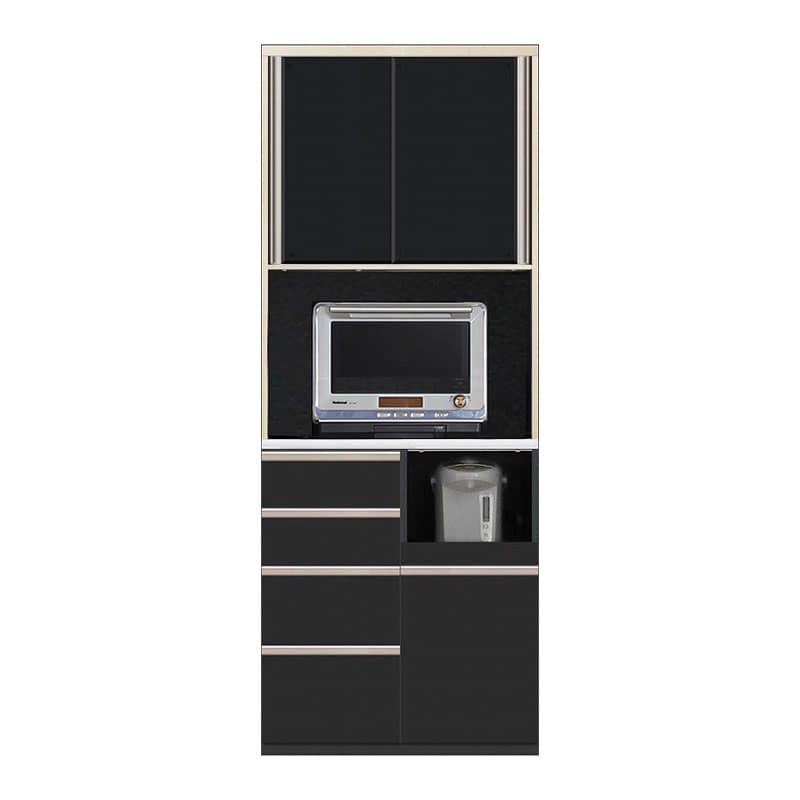食器棚 Nサイゼスト 85 (ブラック):欲しいサイズがきっと見つかる 小物類はイメージです。