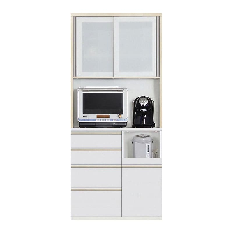 食器棚 Nサイゼスト 90 (ホワイト):欲しいサイズがきっと見つかる 小物類はイメージです。
