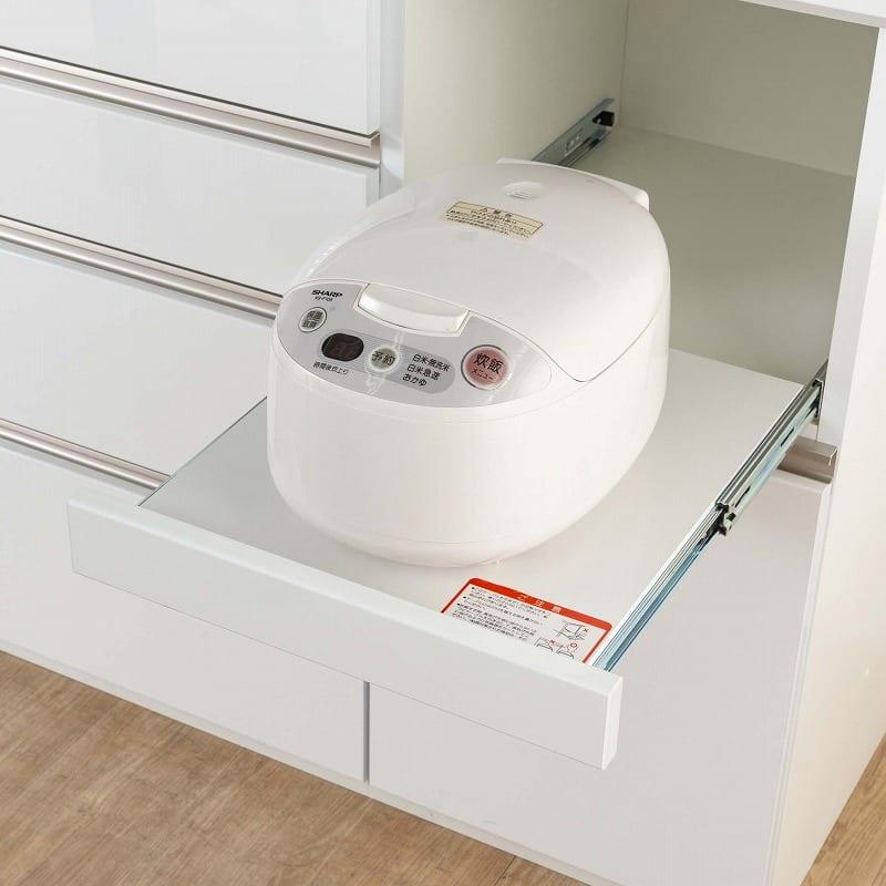 食器棚 Nサイゼスト 90 (ホワイト):ごはんがよそいやすいちょうど良い高さ