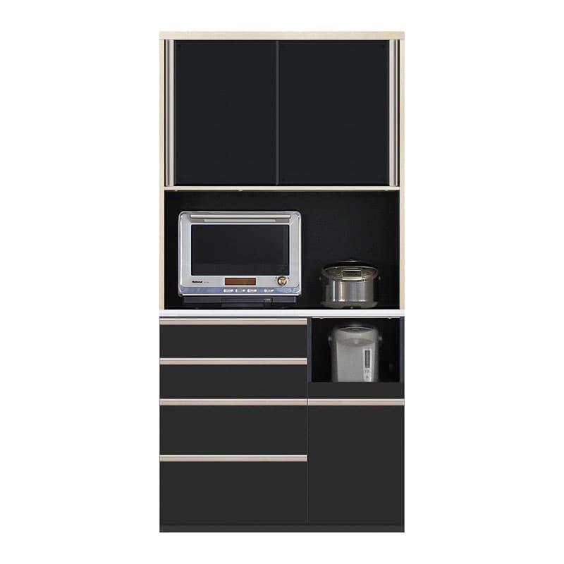 食器棚 Nサイゼスト 105 (ブラック):欲しいサイズがきっと見つかる 小物類はイメージです。