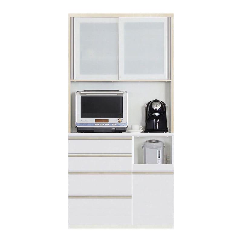 食器棚 Nサイゼスト 105 (ホワイト):欲しいサイズがきっと見つかる 小物類はイメージです。