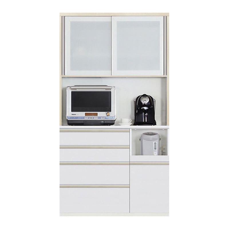 食器棚 Nサイゼスト 110 (ホワイト):欲しいサイズがきっと見つかる 小物類はイメージです。