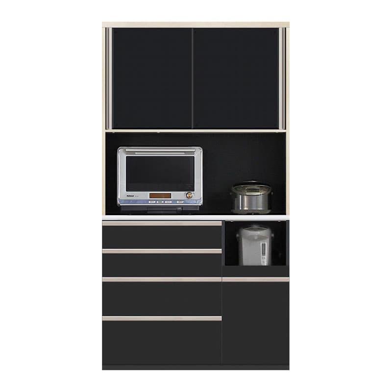 食器棚 Nサイゼスト 115 (ブラック):欲しいサイズがきっと見つかる 小物類はイメージです。