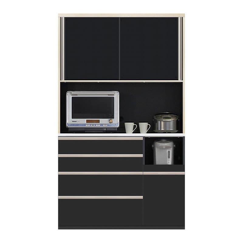 食器棚 Nサイゼスト 120 (ブラック):欲しいサイズがきっと見つかる 小物類はイメージです。