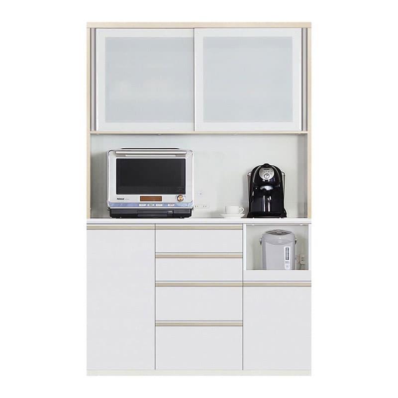 食器棚 Nサイゼスト 130 (ホワイト):欲しいサイズがきっと見つかる 小物類はイメージです。