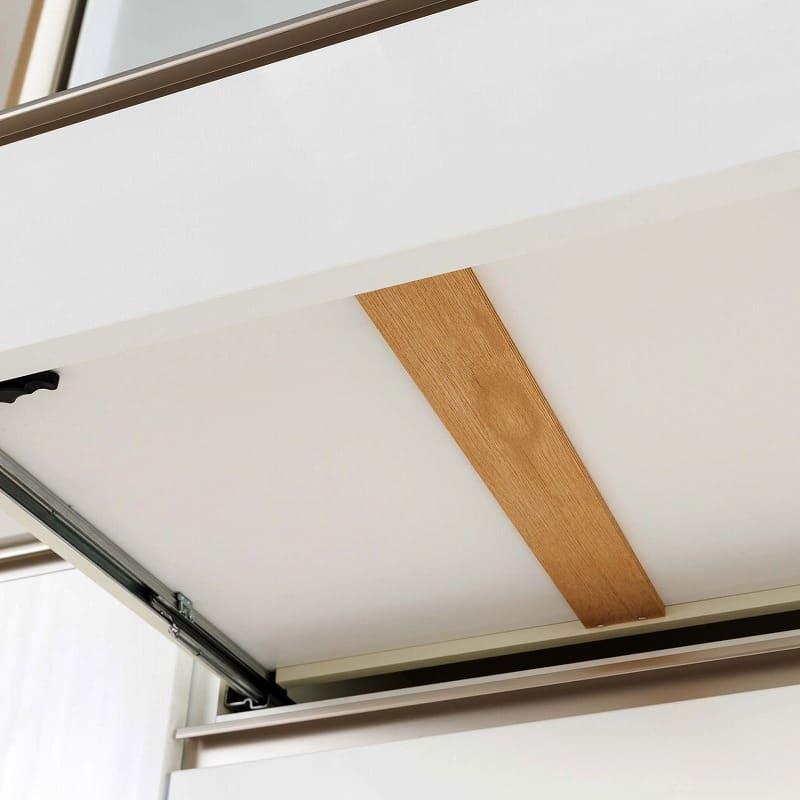食器棚 Nサイゼスト 130 (ホワイト):信頼の国産家具
