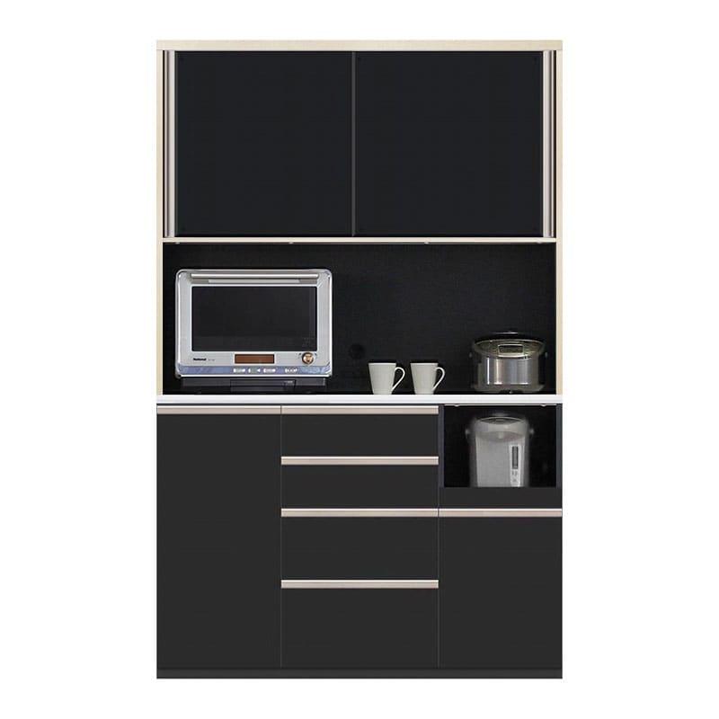 食器棚 Nサイゼスト 135 (ブラック):欲しいサイズがきっと見つかる 小物類はイメージです。