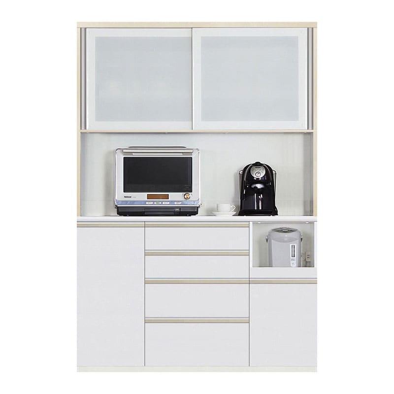 食器棚 Nサイゼスト 140 (ホワイト):欲しいサイズがきっと見つかる 小物類はイメージです。