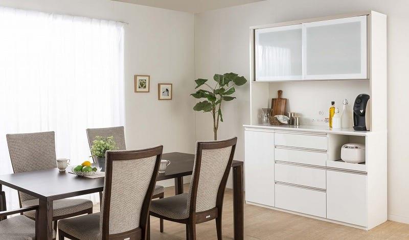 食器棚 Nサイゼスト 140 (ホワイト):欲しいサイズがきっと見つかる