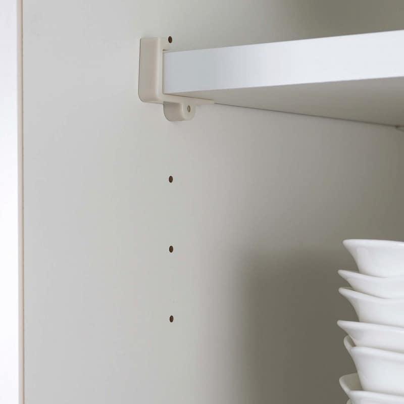 食器棚 Nサイゼスト 150 (ホワイト):棚板は3cmピッチで調整可能