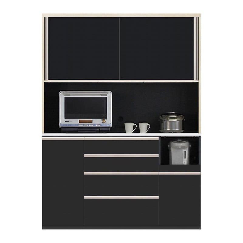 食器棚 Nサイゼスト 155 (ブラック):欲しいサイズがきっと見つかる 小物類はイメージです。