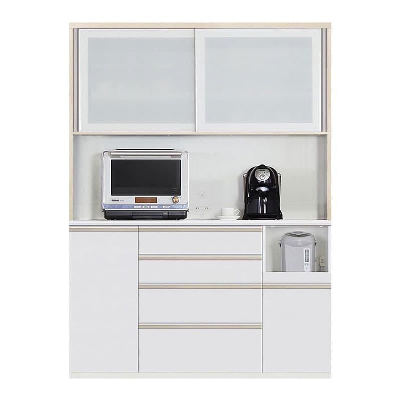 食器棚 Nサイゼスト 155 (ホワイト):欲しいサイズがきっと見つかる 小物類はイメージです。