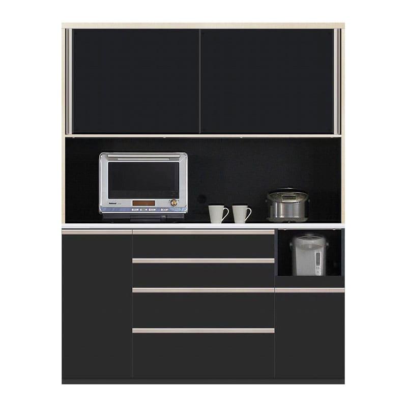 食器棚 Nサイゼスト 160 (ブラック):欲しいサイズがきっと見つかる 小物類はイメージです。
