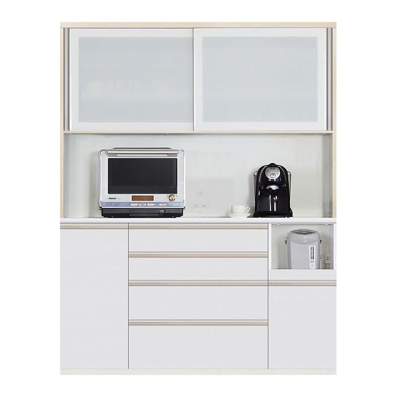 食器棚 Nサイゼスト 160 (ホワイト):欲しいサイズがきっと見つかる 小物類はイメージです。