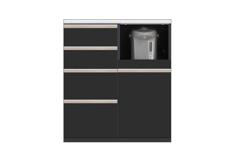 カウンター Nサイゼスト80 (ブラック):欲しいサイズがきっと見つかる 小物類はイメージです。