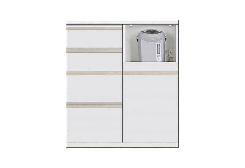 カウンター Nサイゼスト85 (ホワイト):欲しいサイズがきっと見つかる 小物類はイメージです。
