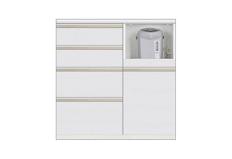 カウンター Nサイゼスト90 (ホワイト):欲しいサイズがきっと見つかる 小物類はイメージです。
