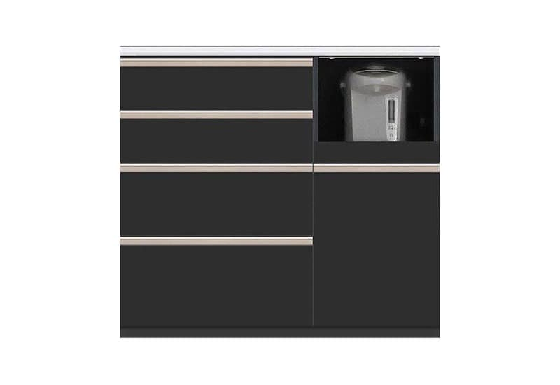 カウンター Nサイゼスト100 (ブラック):欲しいサイズがきっと見つかる 小物類はイメージです。